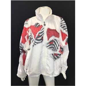 Kaelin White Windbreaker lightweight Breakdance
